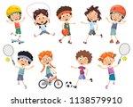 vector illustration of kids... | Shutterstock .eps vector #1138579910