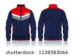 jacket design sportswear track... | Shutterstock .eps vector #1138583066