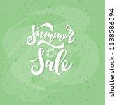 summer sale card. hand drawn... | Shutterstock .eps vector #1138586594