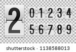 numbers from white mechanical... | Shutterstock .eps vector #1138588013