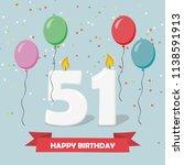 51 Years Selebration. Happy...
