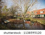 panoramic view of marken  a... | Shutterstock . vector #1138595120