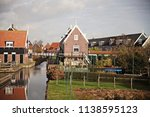 panoramic view of marken  a... | Shutterstock . vector #1138595123