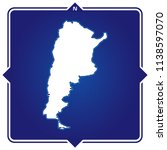 simple outline map of argentina ... | Shutterstock .eps vector #1138597070