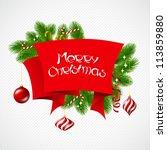 merry christmas vector... | Shutterstock .eps vector #113859880