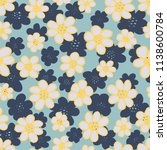 a seamless repeat pattern of... | Shutterstock .eps vector #1138600784