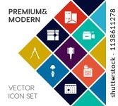 modern  simple vector icon set... | Shutterstock .eps vector #1138611278
