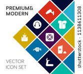modern  simple vector icon set... | Shutterstock .eps vector #1138611308
