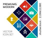 modern  simple vector icon set... | Shutterstock .eps vector #1138611380