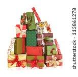 Big Stack Of Christmas Present...
