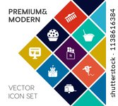 modern  simple vector icon set... | Shutterstock .eps vector #1138616384