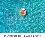 summer holiday relaxation... | Shutterstock . vector #1138617044