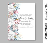 floral wedding invitation... | Shutterstock .eps vector #1138619783