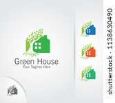 green home logo  nature and... | Shutterstock .eps vector #1138630490