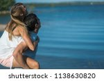 romantic couple playing... | Shutterstock . vector #1138630820