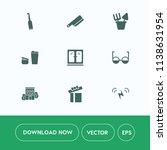 modern  simple vector icon set... | Shutterstock .eps vector #1138631954