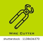 wire cutter icon signs | Shutterstock .eps vector #1138636370