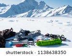 winter set of equipment of an... | Shutterstock . vector #1138638350