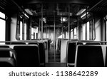 black and white tram interior... | Shutterstock . vector #1138642289