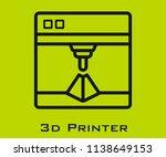 3d printer icon signs