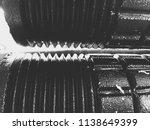 sugarcane juicer machine  | Shutterstock . vector #1138649399