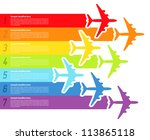 background with rainbow... | Shutterstock .eps vector #113865118