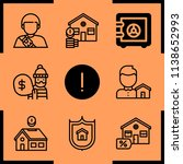 simple icon set of insurance... | Shutterstock .eps vector #1138652993