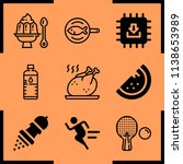 simple icon set of healthy... | Shutterstock .eps vector #1138653989