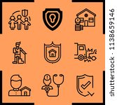 simple icon set of insurance... | Shutterstock .eps vector #1138659146