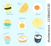 cute variety food from egg... | Shutterstock .eps vector #1138660130