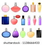 fragrance bottles perfume... | Shutterstock .eps vector #1138666433