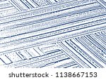 grunge texture. distress indigo ... | Shutterstock .eps vector #1138667153