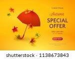 vector template of autumn sale...   Shutterstock .eps vector #1138673843