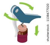 blue metal corkscrew icon....   Shutterstock .eps vector #1138677020
