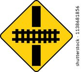 traffic sign   the railroad... | Shutterstock .eps vector #1138681856