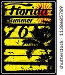 summer beach background in... | Shutterstock . vector #1138685789