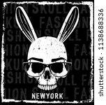 photo print skull t shirt... | Shutterstock . vector #1138688336
