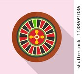 casino wheel icon. flat... | Shutterstock .eps vector #1138691036