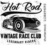 photo print vintage race car... | Shutterstock . vector #1138694093