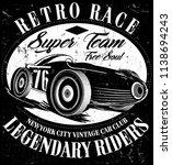 photo print vintage race car... | Shutterstock . vector #1138694243