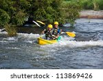 Young Couple Enjoy White Water...