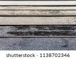 new tram tracks during the... | Shutterstock . vector #1138702346
