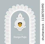 indian religious festival happy ... | Shutterstock .eps vector #1138705490