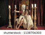 warrior princess on the throne | Shutterstock . vector #1138706303