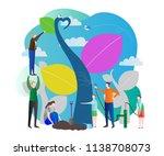 sapling process modern vector... | Shutterstock .eps vector #1138708073
