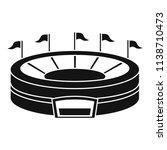 baseball arena icon. simple... | Shutterstock .eps vector #1138710473