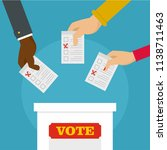 people at ballot box background.... | Shutterstock .eps vector #1138711463