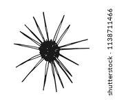 sea urchin vintage sketch.... | Shutterstock .eps vector #1138711466