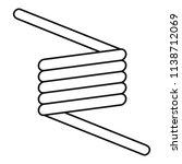 flexible spring cable icon.... | Shutterstock .eps vector #1138712069