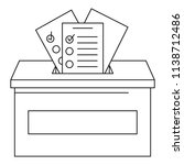 ballot box icon. outline ballot ... | Shutterstock .eps vector #1138712486
